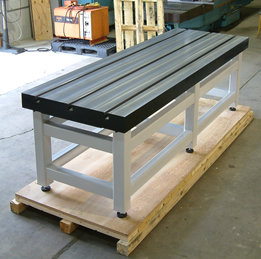 Table 9' x 3' 3 T-slots DIN 650 28 H12 and 5 plate thickness. Weight  approx.